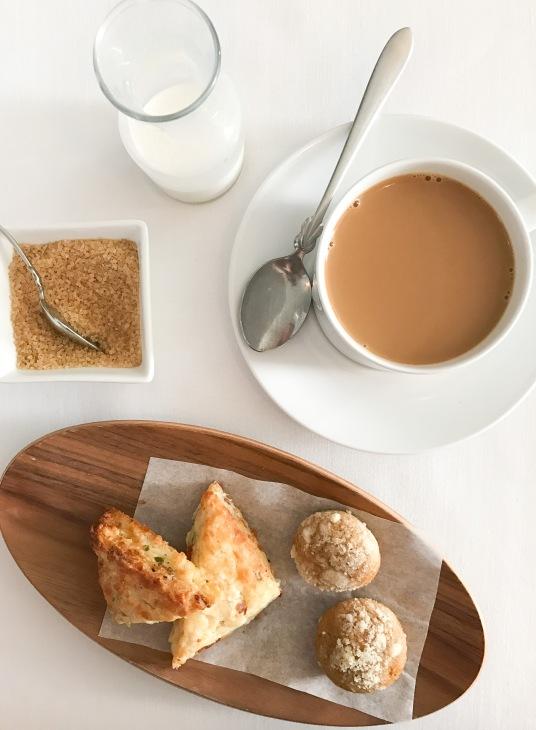 Coffee, Scones + Pumpkin Muffins