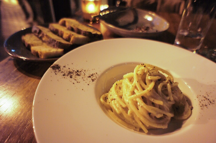 "Bucatini :: ""Cacio e pepe"" aged pecorino romano, toasted black peppercorn :: Bardea :: Wilmington :: DE"
