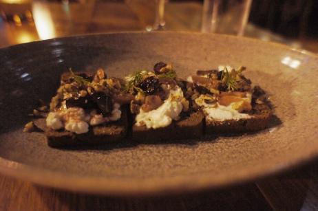 Truffle Toast :: goat cheese, spring onion, walnut, amarena cherry :: Bardea :: Wilmington :: DE