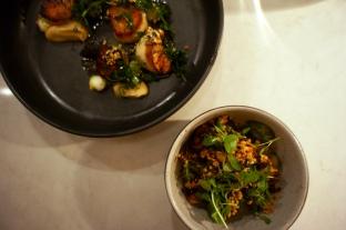 Scallops and Brussel Sprouts :: Heirloom Kitchen :: Chef David Viana :: Old Bridge :: NJ