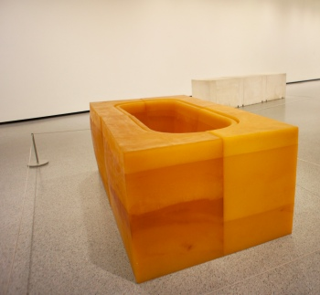 Untitled (Yellow Bath) :: 1996 :: rubber and polystyrene :: Rachel Whiteread :: National Gallery of Art :: Washington :: DC